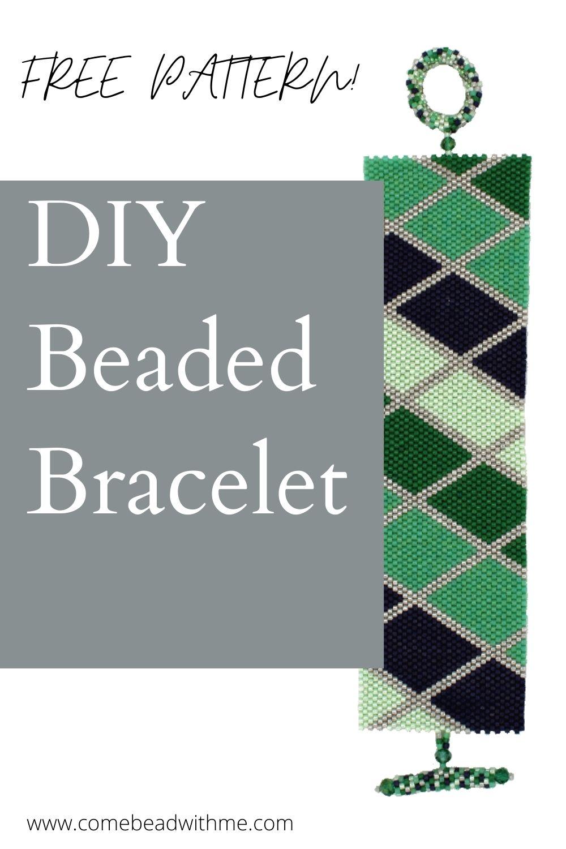 Easy Diagonal Peyote Bracelet