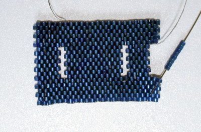 completing beaded hole