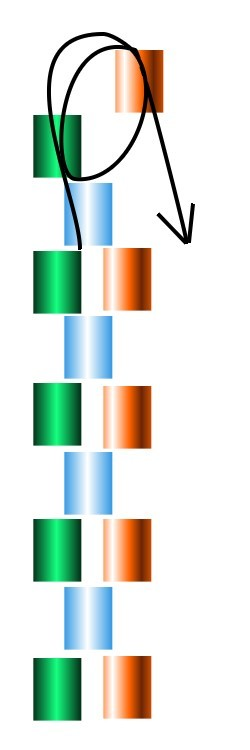 odd count peyote graphic