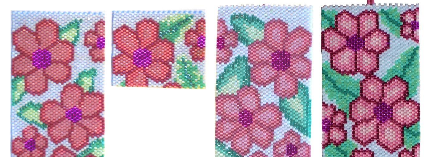 progression of designing a flower pattern