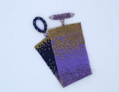 purple ombre bracelet