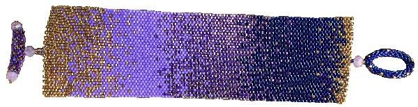 easy peyote bracelet pattern