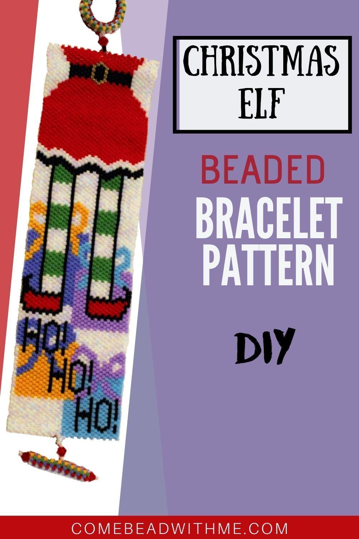 Christmas Peyote Bracelet Patterns