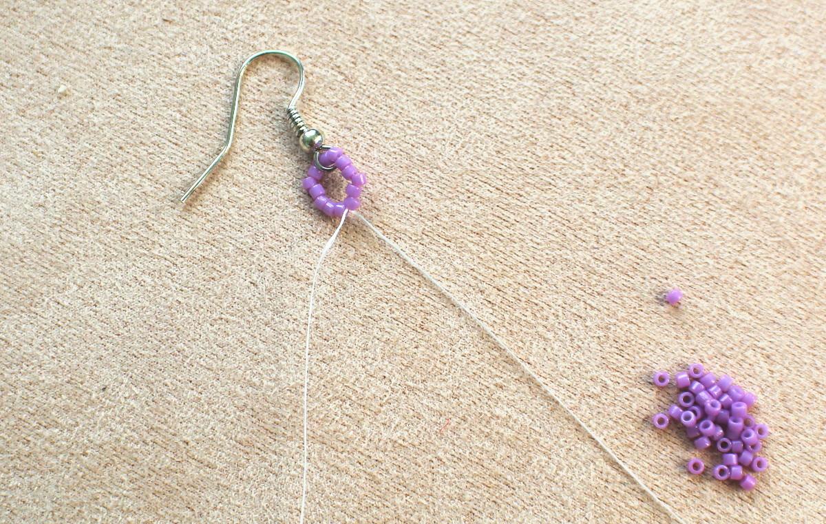 DIY earrings step 1