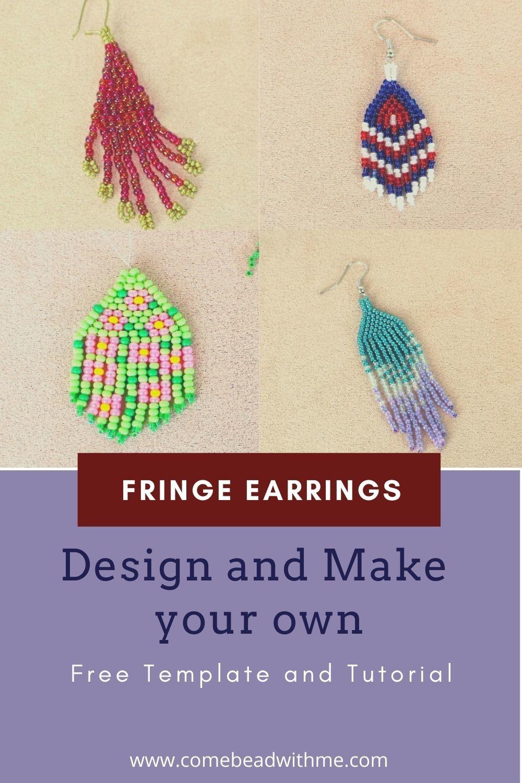 Beaded Earrings Tutorial – Free Template