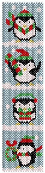 vertical penguin bracelet pattern