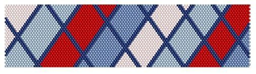 red, white and blue bracelet pattern