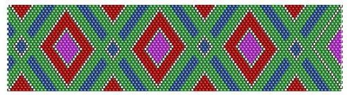 green, red and purple bracelet pattern