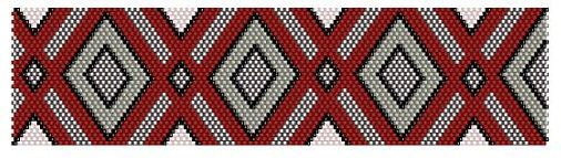 red, white and grey bracelet pattern