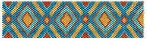 orange and teal bracelet pattern