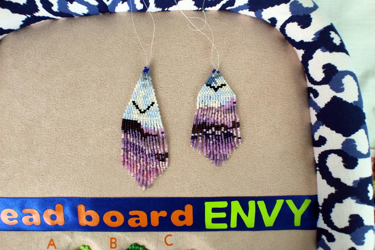 purple mountains fringe earrings
