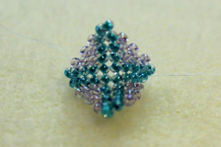 closeup of warped square