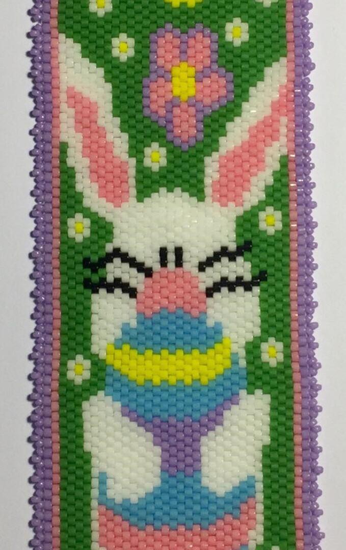closeup of bunny bracelet