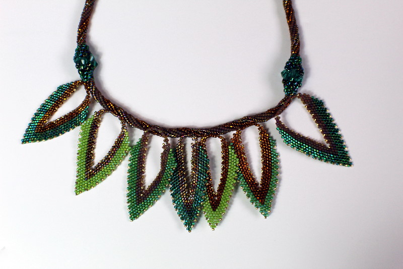 beaded rope with leaves
