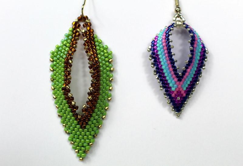 russian leaf and a russian leaf earring