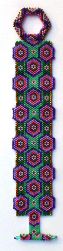 beaded bracelet with hexagons