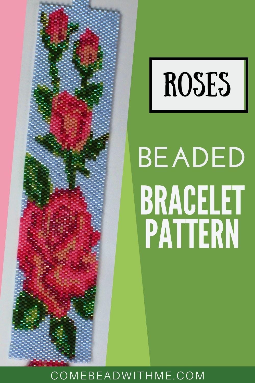 Pink Roses – Peyote Bracelet Patterns