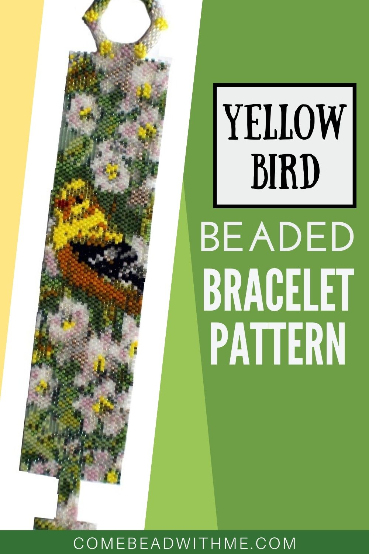 Yellow Bird Peyote Bracelet Pattern