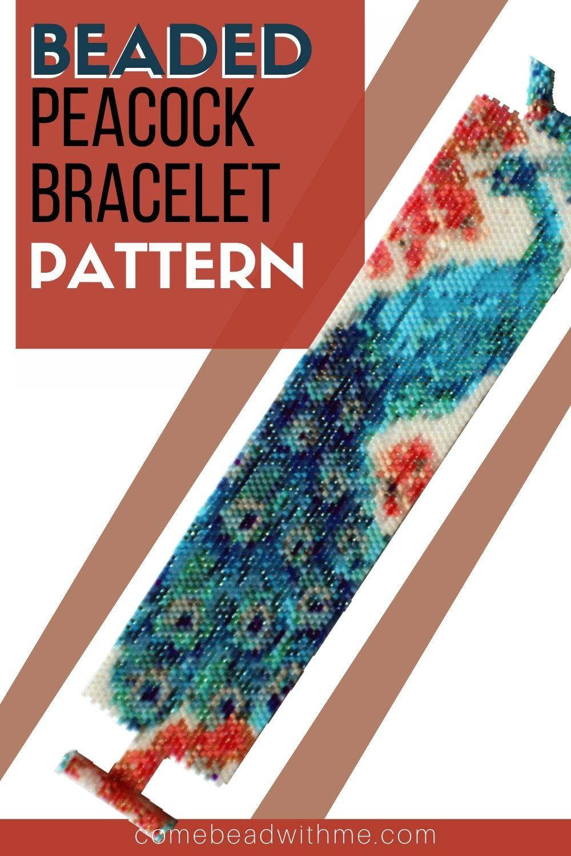 Peyote Stitch  Bracelet – Peacock