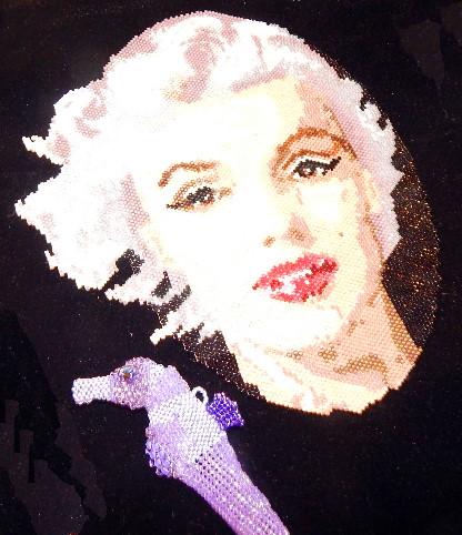 beaded Marilyn Monroe