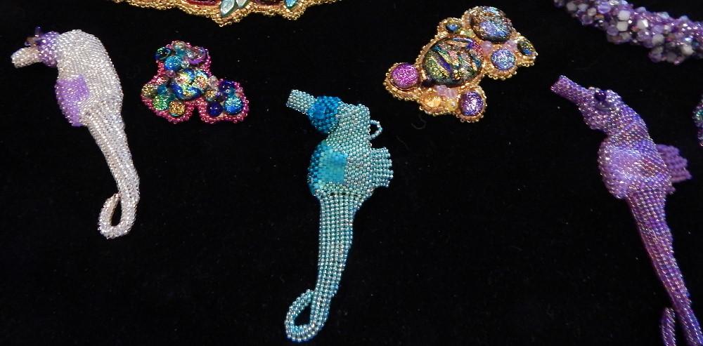 beaded seahorses