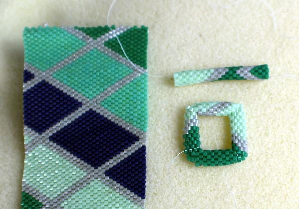 beaded bracelet with beaded clasp