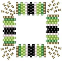 diagram of beaded square